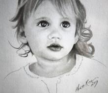 Violet 5″x7″ graphite on paper