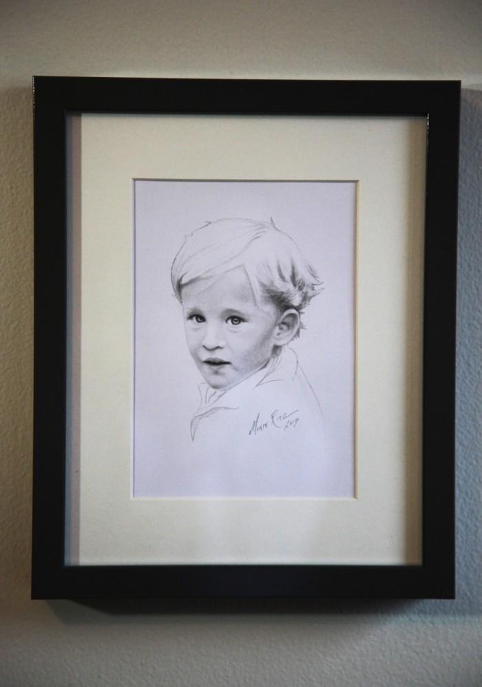 Colin 5″x7″ graphite on paper