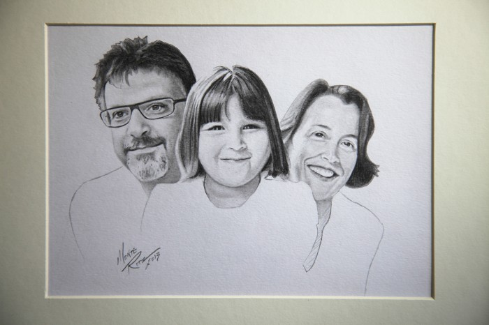 Pope Family 5″x7″ graphite on paper