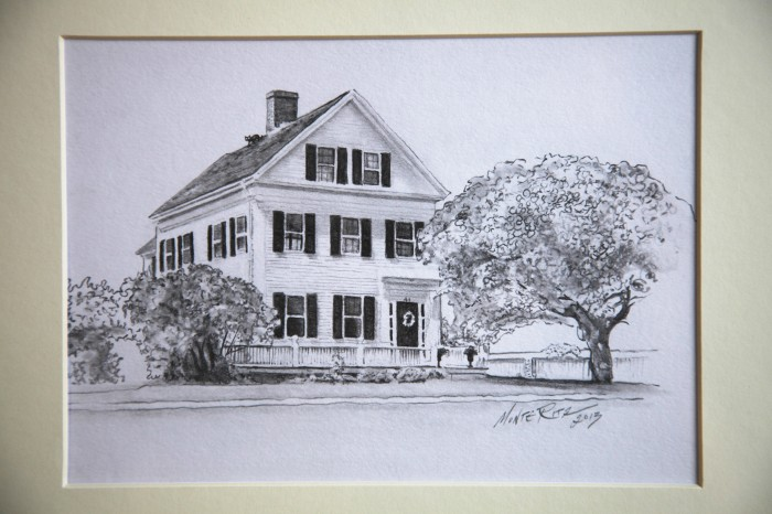 Childhood Home 5″x7″ graphite on paper