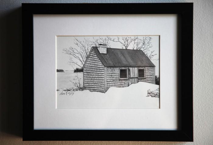 Maine Retreat 5″x7″ graphite on paper | Tiny Portrait