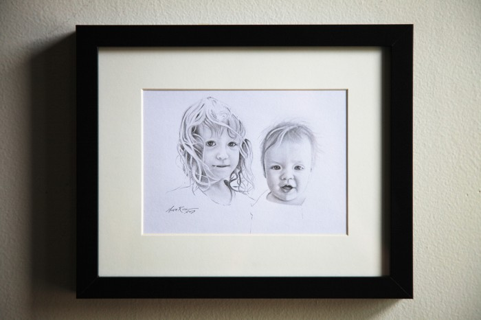 Duo 5″x7″ graphite on paper | Tiny Portrait