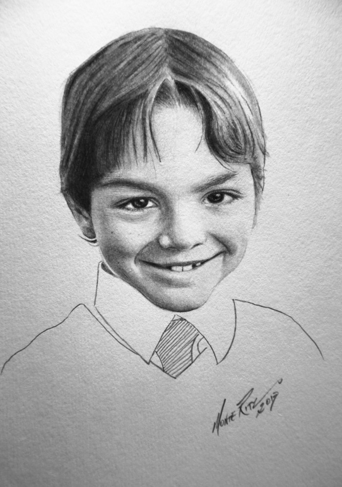 Nate 5″x7″ graphite on paper | Tiny Portrait