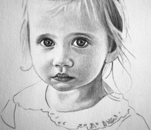 Violet 5″x7″ graphite on paper | Tiny Portrait