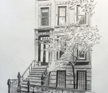 8″x10″ Graphite on paper | Park Slope, Brooklyn, NY