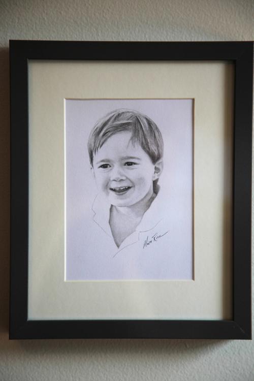 Aiden 5″x7″ graphite on paper